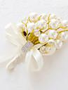 Flori de Nuntă Formă liberă Crini Butoniere Nuntă Petrecere / Seară Satin Mărgea