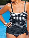 Femei Tankini Femei Cu Susținere Buline Polyester Spandex