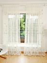 Două Panouri Tratamentul fereastră Floare Dormitor Poliester Material Sheer Perdele Shades Pagina de decorare For Fereastră