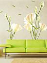 Botanique Romance Floral Stickers muraux Autocollants avion Autocollants muraux decoratifs,Vinyle Materiel Decoration d\'interieurCalque