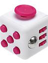 ångest reliever fidget tärningar kubisk kub fidget leksaker för fokusering / spänningsavlastande abs --white&reste sig