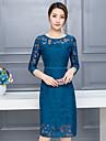 femei&# 39; s primăvara anului 2017 nou val de secțiuni lungi sifon rochie de dantelă subțire dongkuan 2016 temperament aristocratic