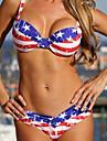 Femei Bikini Femei Cu Susținere Geometrică Sport Dantelat Acrylic Spandex