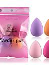4pcs gouttelettes d\'eau poff multicolore 34x46mm chaud beaute maquillage eponge eponge puff puff couleur aleatoire