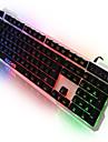Sade lumina lingvistică calculator tastatură tastatură USB cu iluminare de fundal cu 7 culori 104 taste pentru lol dota