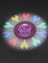 Spinner antistres mână Spinner Jucarii Tri-Spinner LED-ul Spinner Metal Plastic EDCStres și anxietate relief Birouri pentru birou pentru