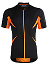 Jaggad Maillot de Cyclisme Femme Homme Unisexe Manches courtes Velo Respirable Sechage rapide Maillot Hauts/Tops Polyester Elasthanne