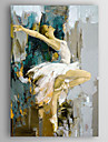 Pictat manual Oameni Vertical,Modern Un Panou Canava Hang-pictate pictură în ulei For Pagina de decorare