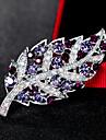 Dame Broșe La modă Euramerican Ștras Aliaj Leaf Shape Bijuterii Pentru Nuntă Petrecere Ocazie specială Zilnic