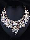 Pentru femei Coliere Bijuterii Ștras Aliaj Design Basic Curcubeu Maro Bijuterii Pentru Nuntă Petrecere Logodnă Zilnic Casual 1 buc