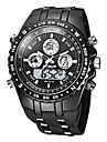 Bărbați Ceas Militar Ceas de Mână Quartz Quartz Japonez LCD Calendar Cronograf Rezistent la Apă Zone Duale de Timp alarmă Cauciuc Bandă