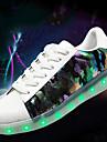 Homme-Exterieure Decontracte-Blanc Noir/blanc-Talon Bas-Light Up Chaussures-Baskets-Similicuir