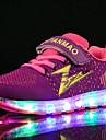 Flickor Sportskor Lysande skor ljus Shoe Tyll Textil Vår Sommar Höst Vinter Sport Casual Löpning Lysande skor ljus Shoe Karborreband LED