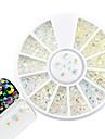 1 st mode nagel konst rund skiva glitter transparent rhinestone blandad storlek rhinestone diy skönhet lysande harts gelé rhinestone