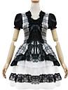 Outfits Söt Lolita Prinsessa Cosplay Lolita-klänning Enfärgat Kortärmad Kort / Mini För