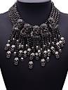 Pentru femei Coliere Bijuterii Bijuterii Piatră Preţioasă Aliaj La modă Euramerican Negru Bijuterii Pentru Petrecere 1 buc