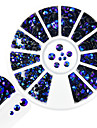1pcs style mixte strass nail art diy beaute rond disque brillant montana strass brillant resine gelee decoration en strass