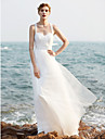 A-line curele matura / perie rochie tul de nunta rochie cu sequin ruche