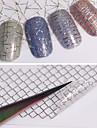 12 Autocollant d\'art de clou Autocollant de transfert d\'eau Maquillage cosmetique Nail Art Design