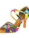 Latin Jazz Salsa Swing-Pantofi de dans(Violet / galben) -Personalizabili-Damă