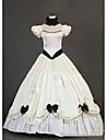 O piesă/Rochii Lolita Stil Gotic lolita Cosplay Rochii Lolita Vintage Beretă Manșon scurt Lungime până la podea Rochie Pentru Alte