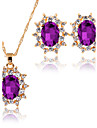 Pentru femei Seturi de bijuterii Coliere cu Pandativ Seturi de bijuterii de mireasă Zirconiu Cubic Clasic La modă Euramerican Taper Shape