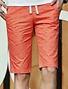Bărbați Zvelt Simplu Talie Medie,Inelastic Pantaloni Chinos Pantaloni Scurți Pantaloni Mată Os