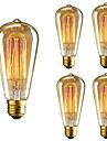 5pcs st64 e27 40w incandescent vintage edison ampoule pour restaurant club cafe bars lumiere ac110-130v