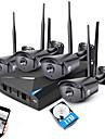 Jookan 4ch 960p kit de securitate wireless nvr 4 * 1.3mp în exterior noapte de vizibilitate wifi ip cctv camera cu 1tb hdd