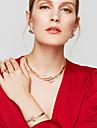 Seturi de bijuterii Cercei Brățară Inel Design Basic Design Unic La modă European stil minimalist Ștras Aliaj Circle Shape Auriu Pentru