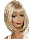 Femme Perruque Synthetique Sans bonnet Mi Longue Raide Blond Perruque Naturelle Perruque Deguisement