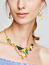 Pentru femei Colier / cercei Coliere La modă costum de bijuterii Reșină Aliaj Flower Shape Coliere Σκουλαρίκια Pentru Petrecere Zi de