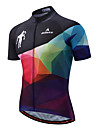 Miloto Maillot de Cyclisme Homme Manches Courtes Velo Maillot Bande reflechissante Sechage rapide Extensible Spandex Polyester