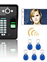 720P Wireless WIFI RFID Password Fingerprint Recognition  Video Door Phone Doorbel Intercom System  Night Vision Waterproof Camera with Rain Cover