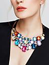 Pentru femei Coliere Coliere cu Pieptar Cristal Bijuterii Ștras Diamante Artificiale 18K de aur Cristal Austriac La modă European