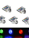 E14 GU10 E26/E27 Lumini LED Scenă MR16 1 LED Putere Mare 250 lm RGB Reglabil Telecomandă Decorativ AC 85-265 V 5 bc