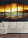 Cinci Panouri Orizontal Imprimeu Decor de perete For Pagina de decorare