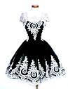 Une Piece/Robes Gothique Doux Lolita Classique/Traditionnelle Punk Elegant Victorien Rococo Princesse Retro Cosplay Vetrements Lolita Noir