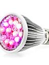 12W E27 / E14 / GU10 condus cresc lumini de 12 de mare putere a condus (8red 2blue 1uv 1white) 290-330lm ac 85-265 v 1 buc