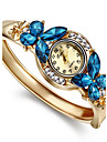 Femme Montre Tendance Bracelet de Montre Quartz Imitation de diamant Alliage Bande Bracelet Elegantes Dore Blanc Bleu Arc-en-ciel