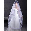 Vjenčani velovi One-tier Chapel Burke Čipka aplicirano Edge 118,11 u (300cm) Til Bijela / SlonovačaRetka, Ball haljina, princeza, Plašt /