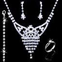 nádherná slitina s kamínky svatební svatební šperky sada (0986-l20111211494)