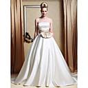 Lanting Bride® Aライン / プリンセス 大きいサイズ / 小柄 ウェディングドレス - クラシック/タイムレス / エレガント/ゴージャス カラー/カラーアクセント / ビンテージ チャペルトレーン ストラップレス サテン とともに