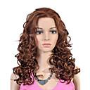 krajky přední dlouhou nejvyšší stupeň kvalitní syntetický hnědé kudrnaté vlasy paruku