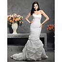 Lanting Bride® Sirena kroj Veći brojevi / Sitna Vjenčanica - Klasično i svevremensko Srednji šlep Srcoliki izrez Taft s