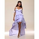 high low šifona-linije off-the-ramena koktel haljina inspirirana Brooklyn Decker