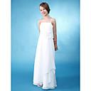 Lanting Bride® Do poda Šifon / Saten Haljina za malu djeverušu A-kroj / Kroj uz tijelo Tanke naramenice Prirodni struk sCvijeće /