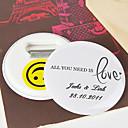 personalizované bottle otvírák na konzervy / magnet na ledničku - vše, co potřebujete, je láska (sada ze dne 12.)