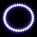 auto světlometů / dekorativní osvětlení (anděl oko světlo, 39 LED, 12 cm, bílá)
