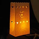 心臓の紙のキャンドル袋(4個セット)